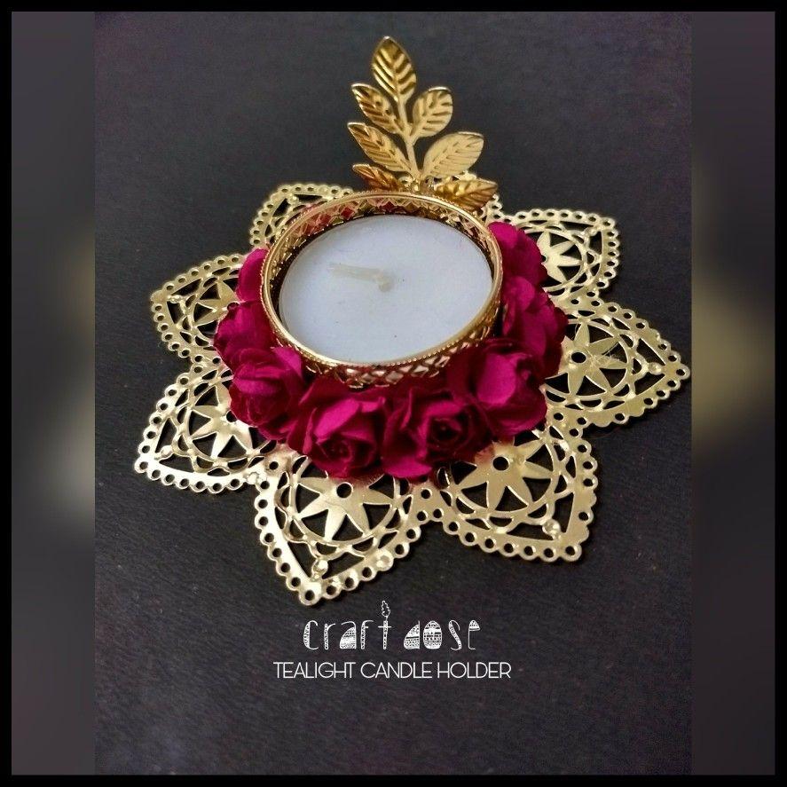 TEALIGHT CANDLE HOLDER Diwali diy, Diwali decorations