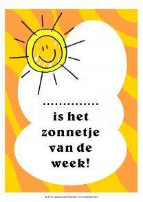 Lesmateriaal Zonnetje Van De Week Elementary Schools Classroom
