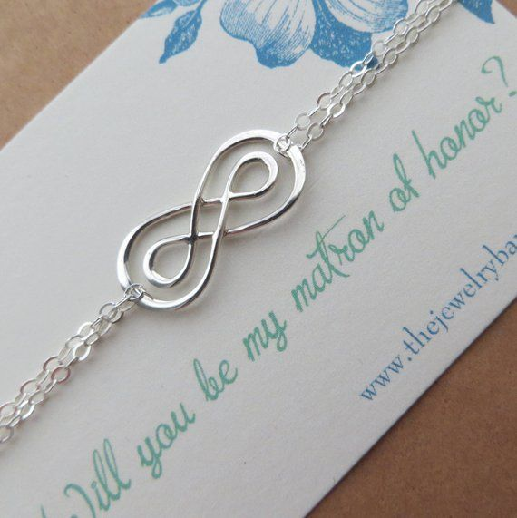 Matron Of Honor Proposal Gift, Intertwined Infinity