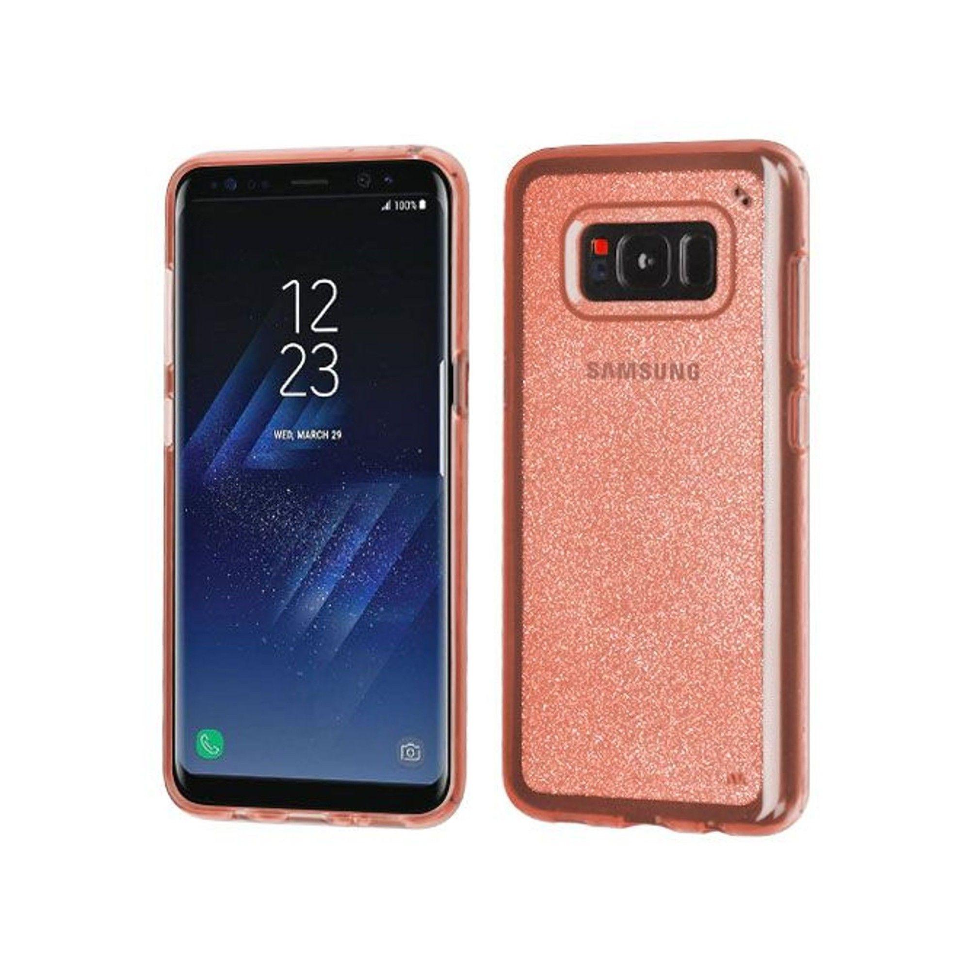 Mybat For Samsung Galaxy S8 Plus Clear Rose Gold Glitter Skin Case Samsung Galaxy Rubber Case Galaxy