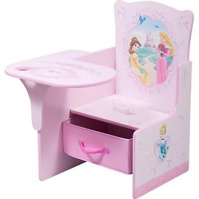 kids desk chair pull out storage bin toddler girl preschool disney