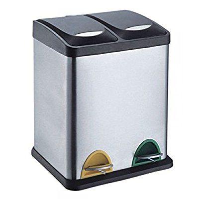 treteimer abfalleimer m lleimer m lltrennung edelstahl 30 liter 2x15l coole raumideen. Black Bedroom Furniture Sets. Home Design Ideas