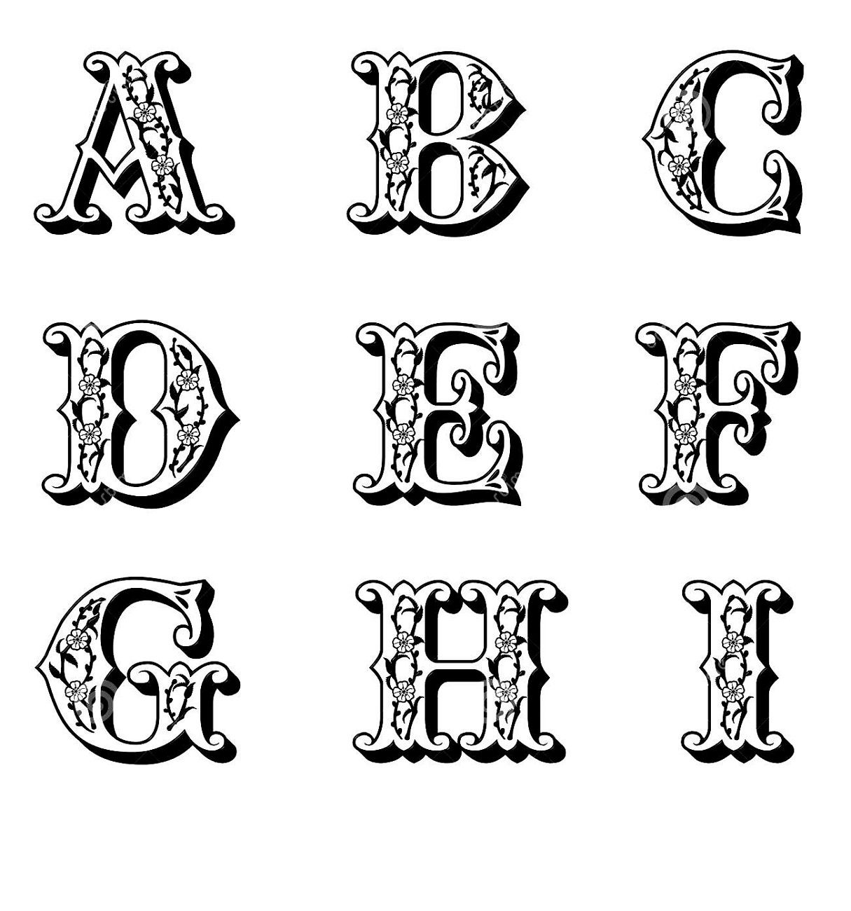 It's just a graphic of Rare Printable Capital Letters