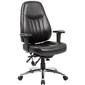 Alpha 24 Hour Leather Task Chair Task Chair Executive Leather Office Chair Ergonomic Seating