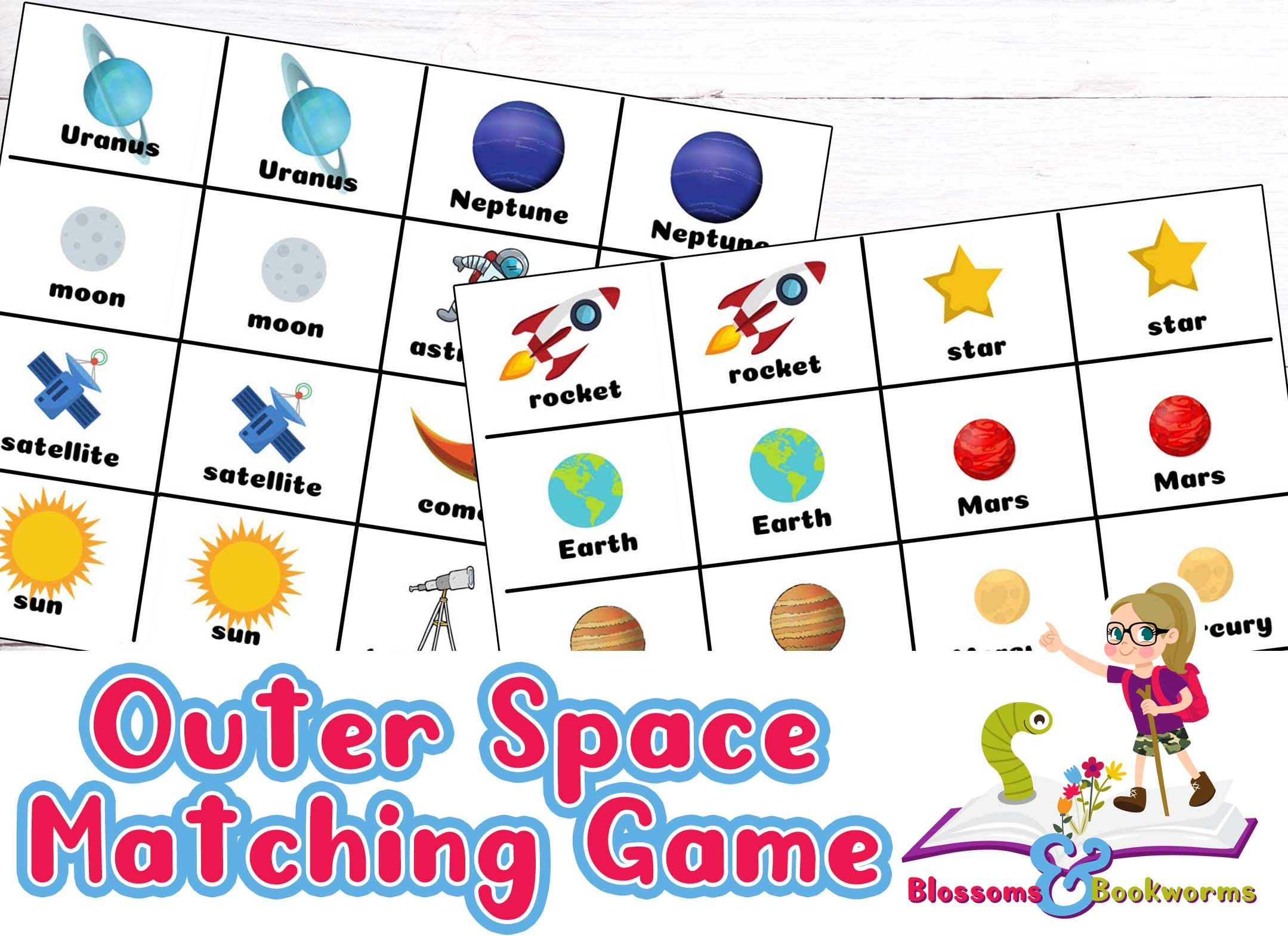 Outer Space Matching Game Matching games, Space