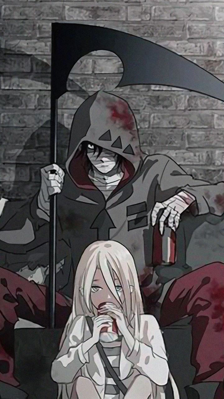 Download 720x1280 Wallpaper Rachel Gardner And Zack Black And White Anime Samsung Galaxy Mini S3 S5 Neo Alpha In 2020 Angel Of Death Anime Anime Wallpaper Iphone