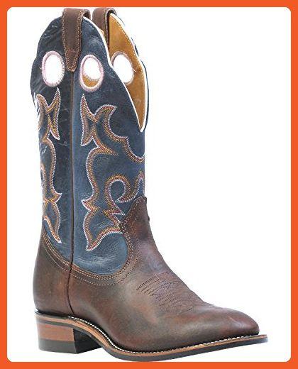 Boulet Laid Back Copper Organza Azul Cowgirl Boot- Round Toe Copper 7  M