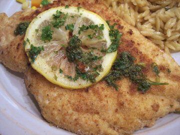 Chicken Scaloppine with Lemon Glaze