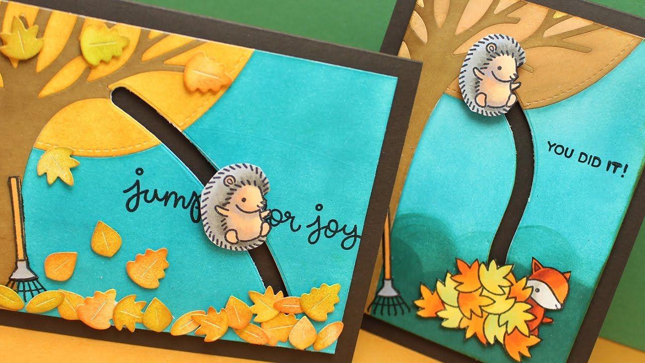 jump for joy  inlaid die  slider card  slider cards