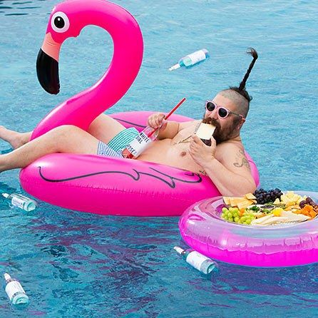 Fat Jewish spotted on the Pink Flamingo pool float! | As seen on ...