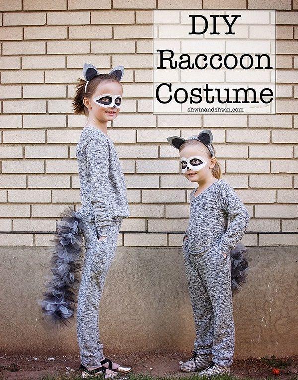Tutorial: Easy raccoon costume