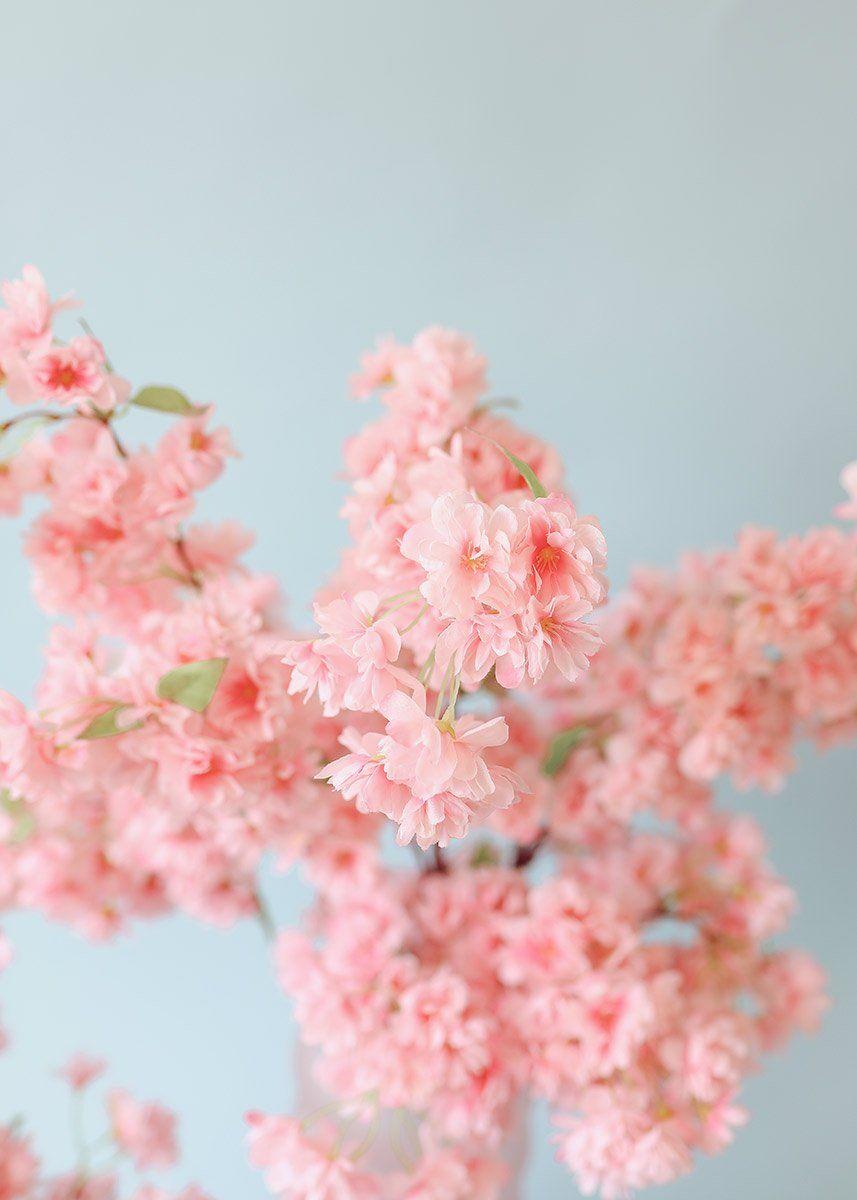 Pink Faux Cherry Blossom Flower Branch 40 Flower Branch Cherry Blossom Flowers Blossom Flower