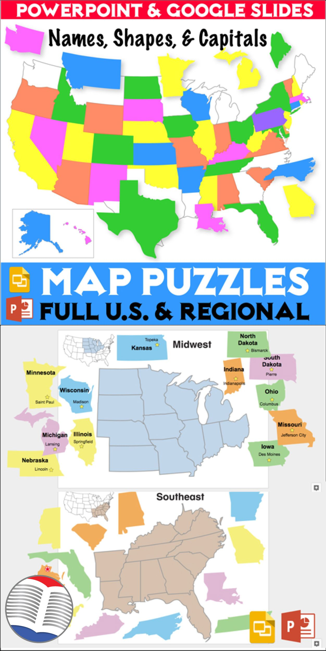 U.S. Map Puzzles | ESL EFL ELL Teaching Resources from ...