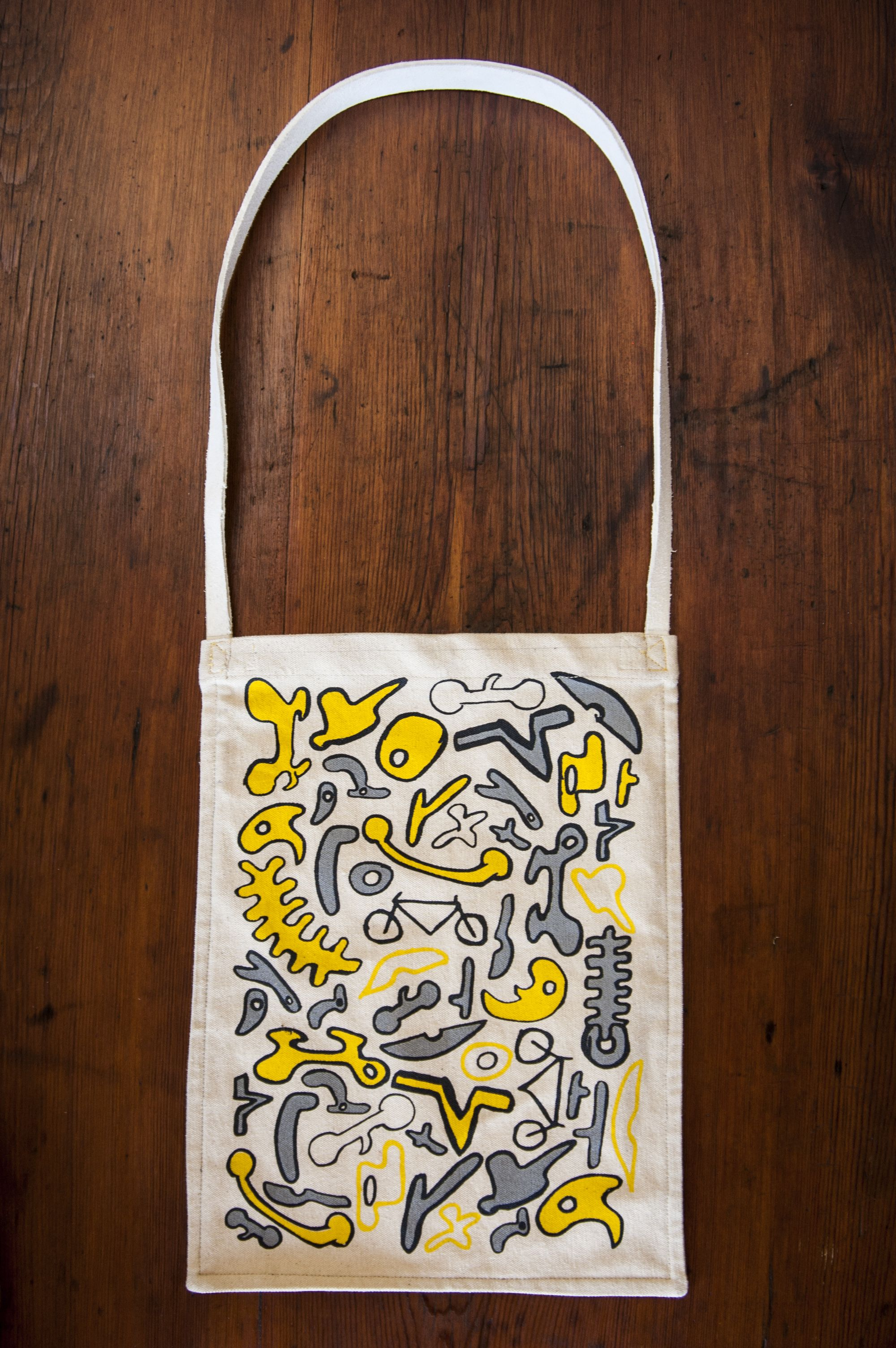 screen printed tote bag. peter claassens