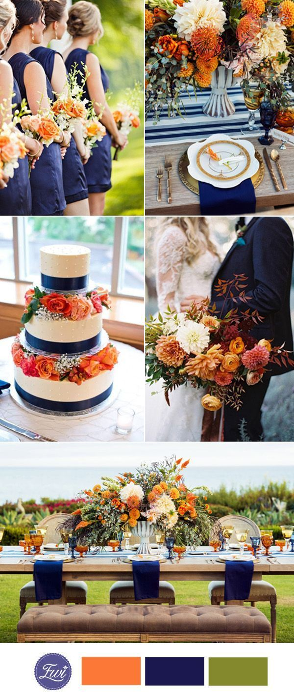 Wedding decorations navy blue october 2018 Top  Fall Wedding Color Ideas for  Trends in   Party