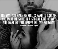 You Make Me Fall Deeper In Love Everyday Love Love Quotes Life Quotes