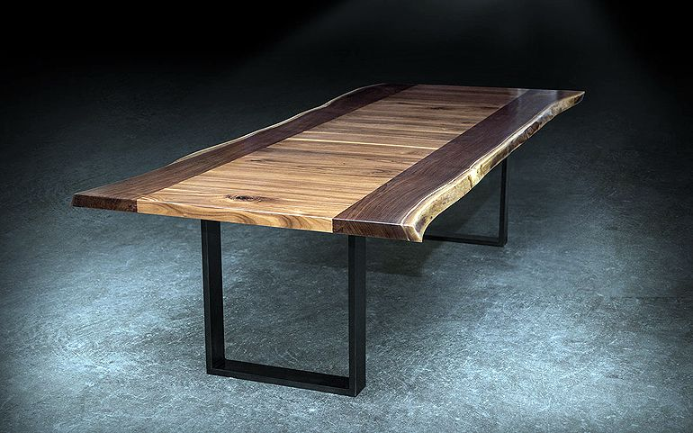 walnut live edge table furnishings pinterest tisch. Black Bedroom Furniture Sets. Home Design Ideas