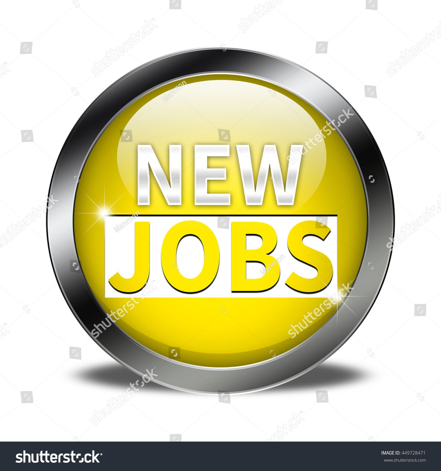New jobs button isolated #Sponsored , #affiliate, #jobs#button#isolated
