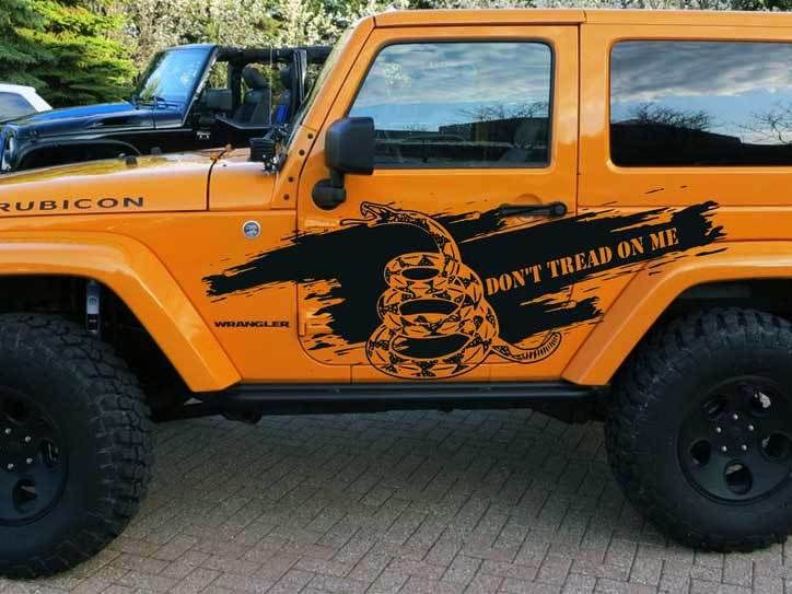 Don T Tread On Me Jeep Decal Sticker Mud Splash Side Door Graphics