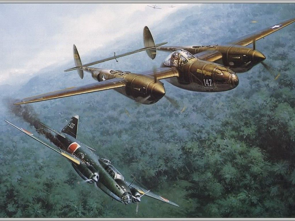 g4m betty P-38 Lightning Downs Mitsubishi G4M Betty Bomber