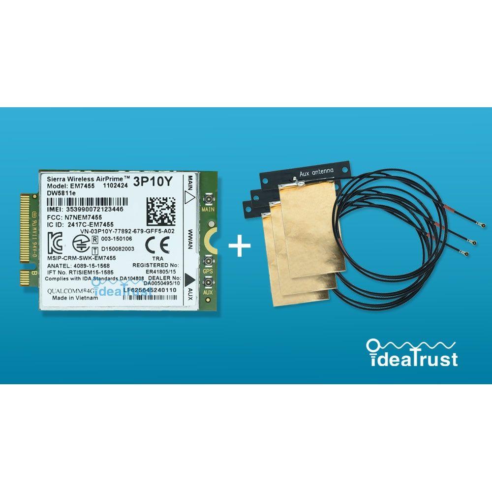 DW5811e Sierra EM7455 3P10Y Gobi6000 X7 FDD TDD LTE 4G WWAN Module