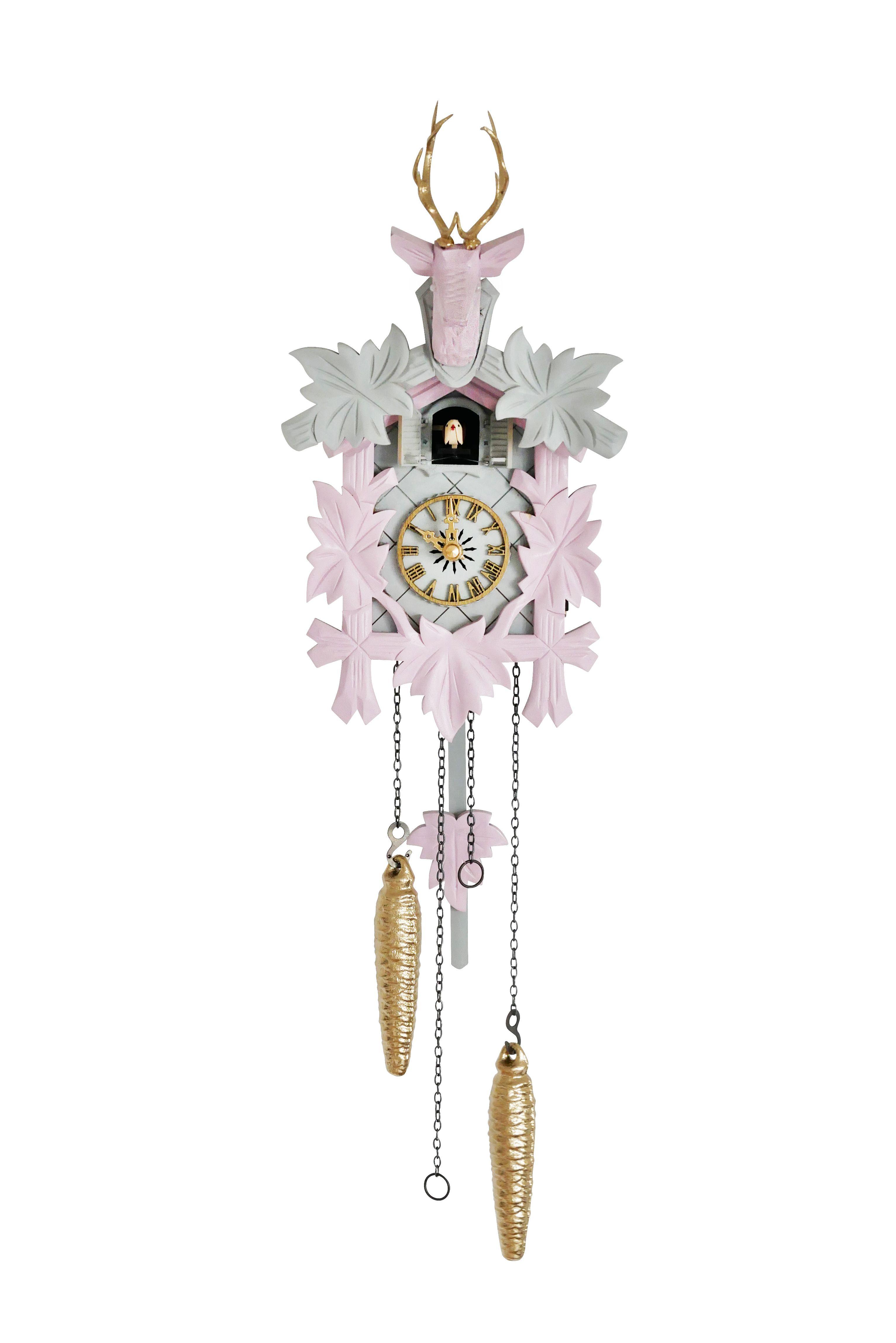 Kuckucksuhr Rosa Hellgrau Gold Kuckucksuhren Uhrideen Uhr