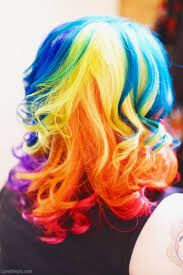 Look at that rainbow hair