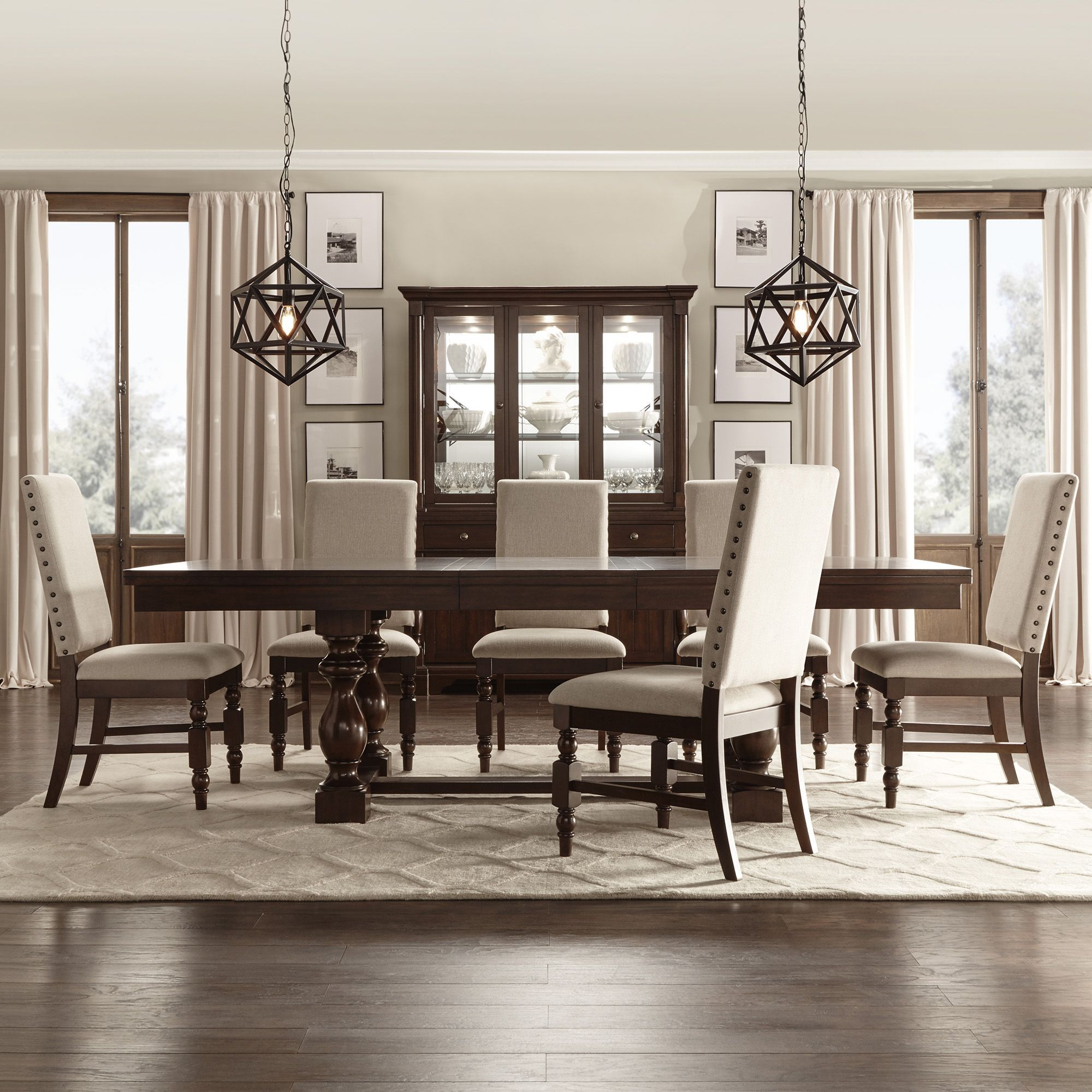 dining room deals | Flatiron Baluster Extending Dining Set by iNSPIRE Q ...