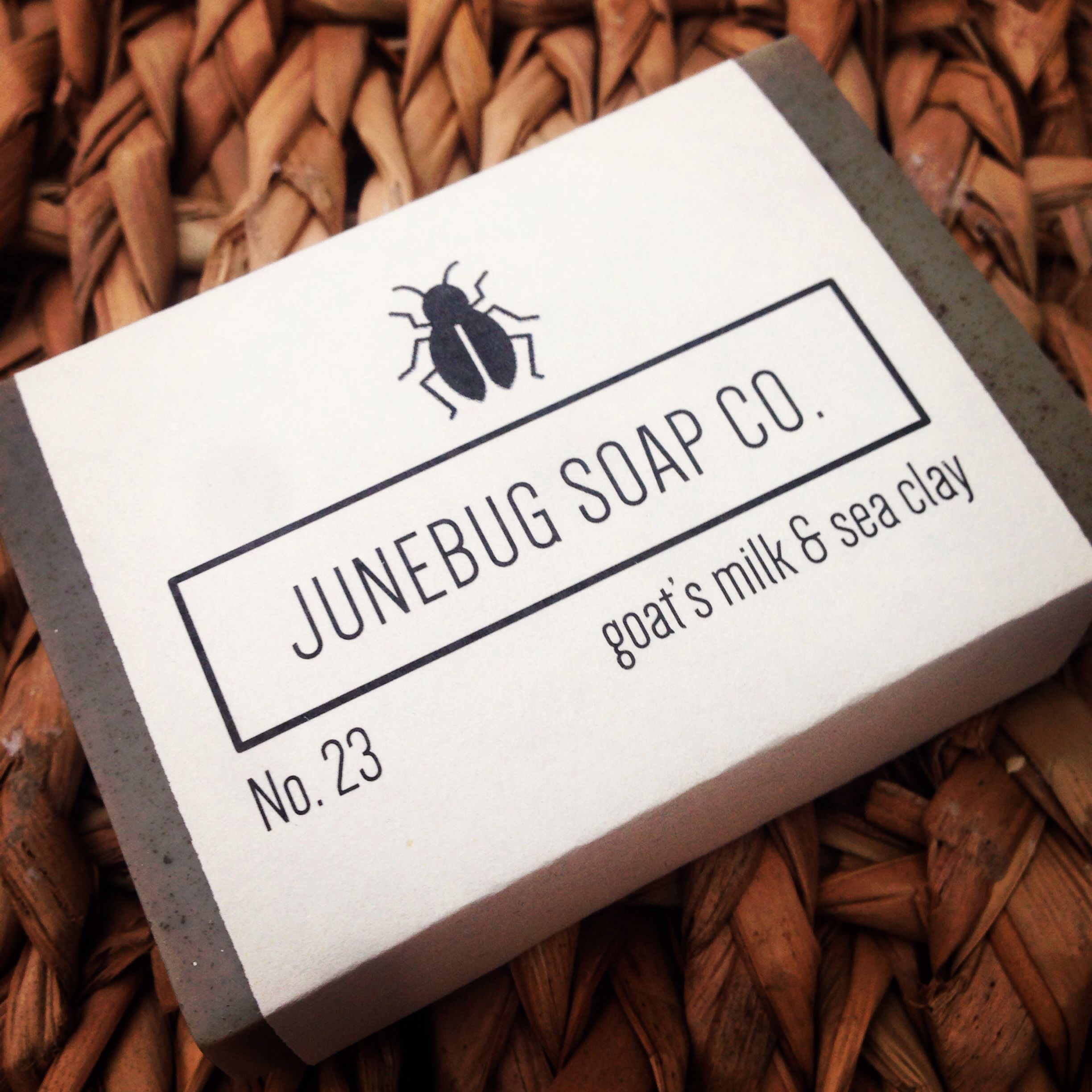 Goat's Milk & Sea Clay all-natural bar soap  Available at www.etsy.com/shop/JunebugSoapCo