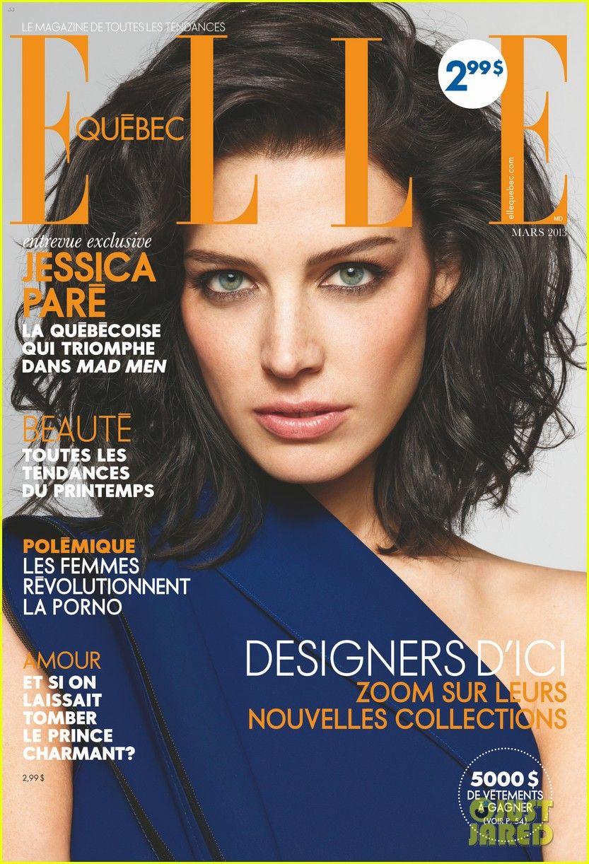 Celeb Diary: Jessica Pare in Elle Canada (martie 2013)