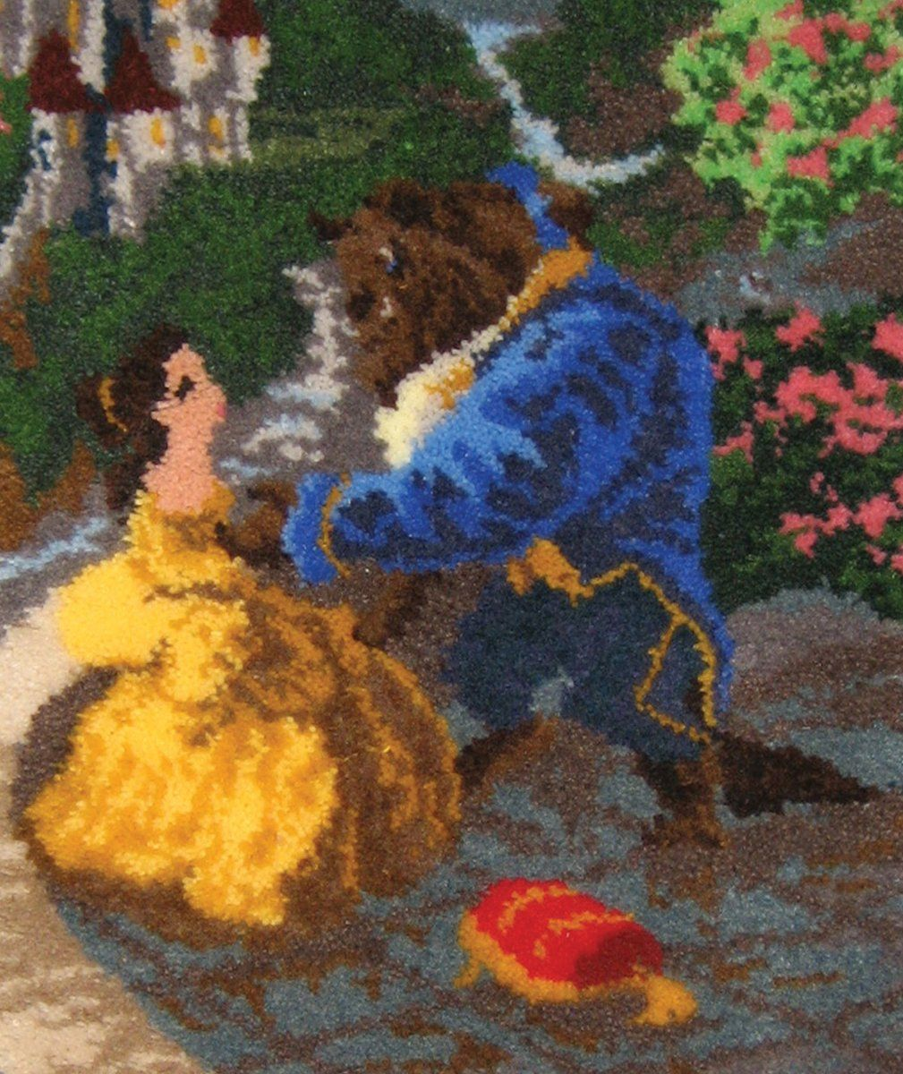 Mcg Textiles Beauty And The Beast Latch Hook Rug Kit 21 By 26 Inch