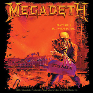 Megadeth Peace Sells Album Cover Sticker Album Covers Megadeth Megadeth Albums