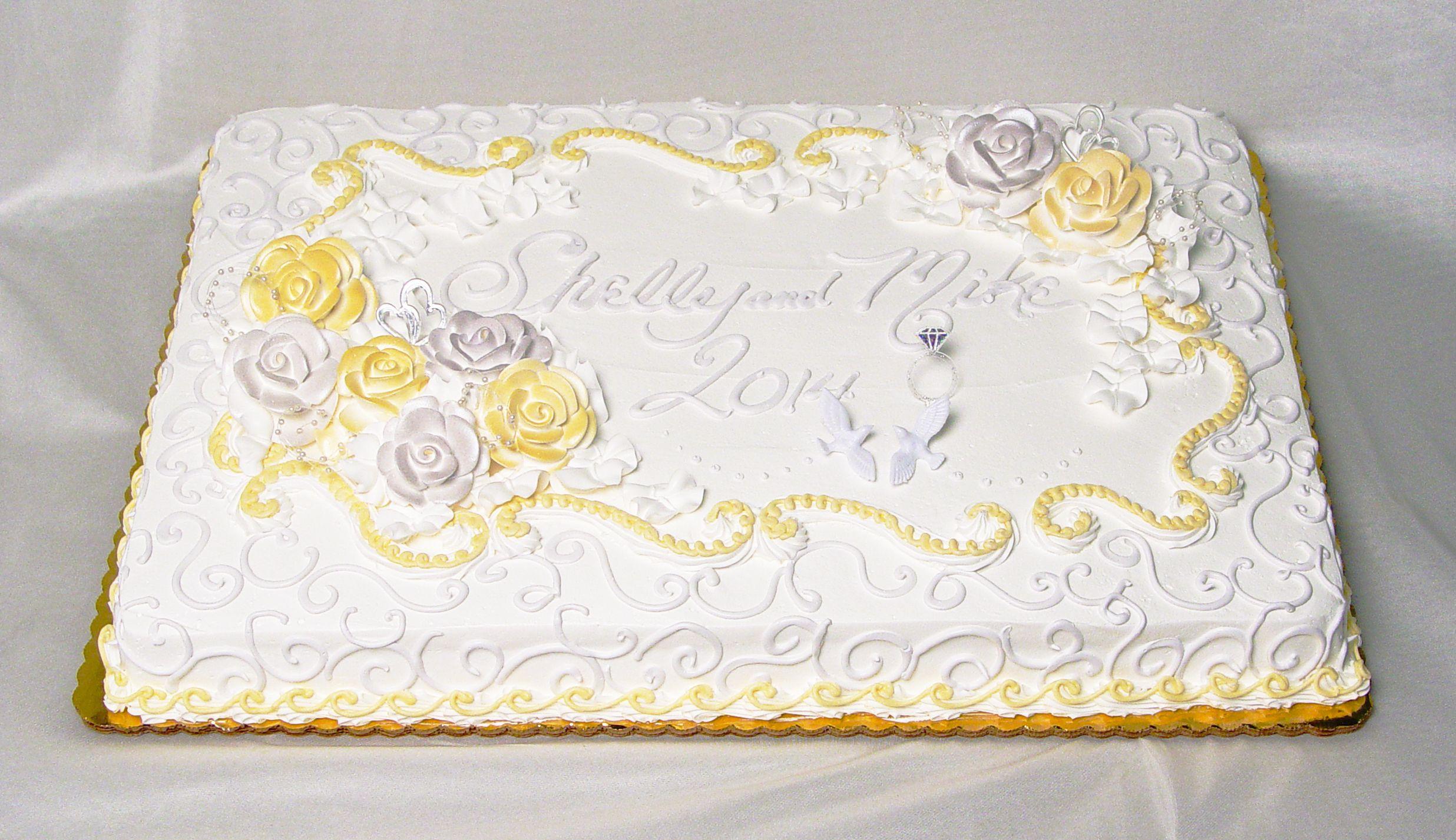 SHEETWEDDINGCAKE.JPG (2472×1426) Sheet cake designs