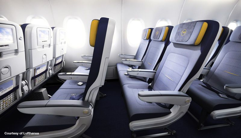 Seating onboard the Lufthansa A380