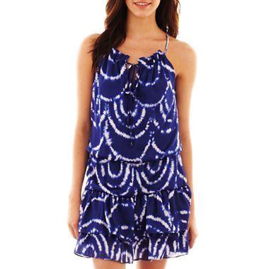 551cdb006655 Bisou Bisou® Blouson Print Dress - jcpenney