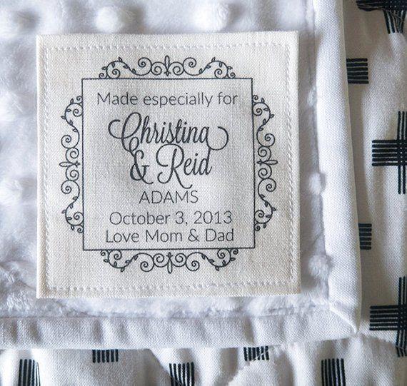 Wedding Quilt Label Wedding Label Personalized Label