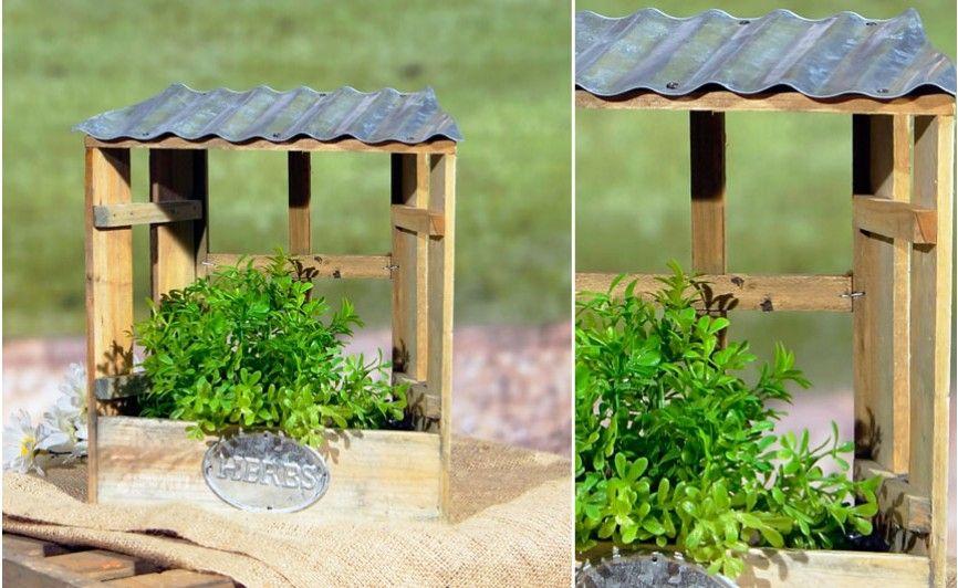 Planter Boxes Garden Box Herb Box Galvanized Metal Tin Roof Rustic Vintage Decor Barnyard Decor Corrugated Metal Roof