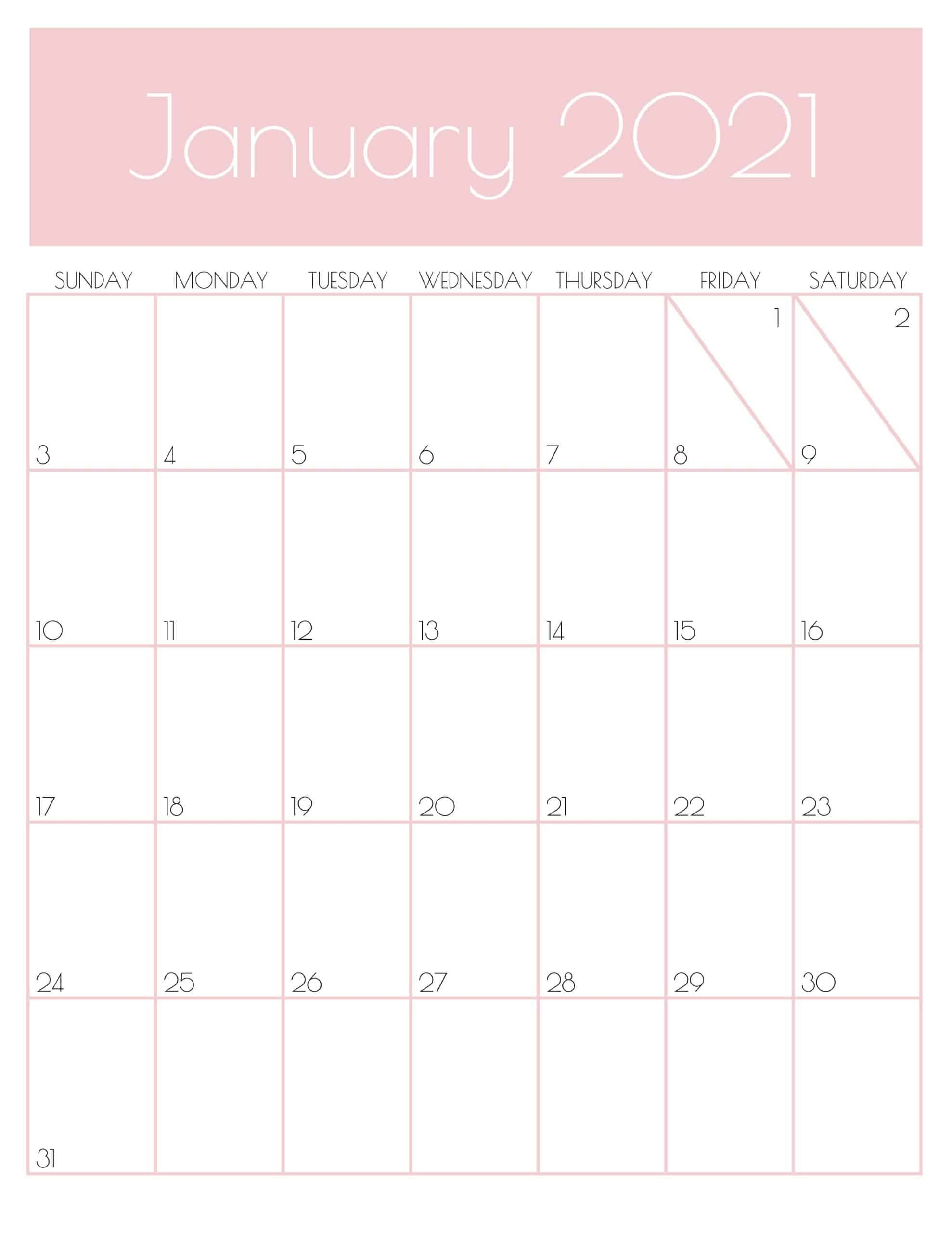 Cute Free Printable January 2021 Calendar Saturdaygift In 2020 Goal Planner Printable Monthly Planner Printable Goal Planner Free