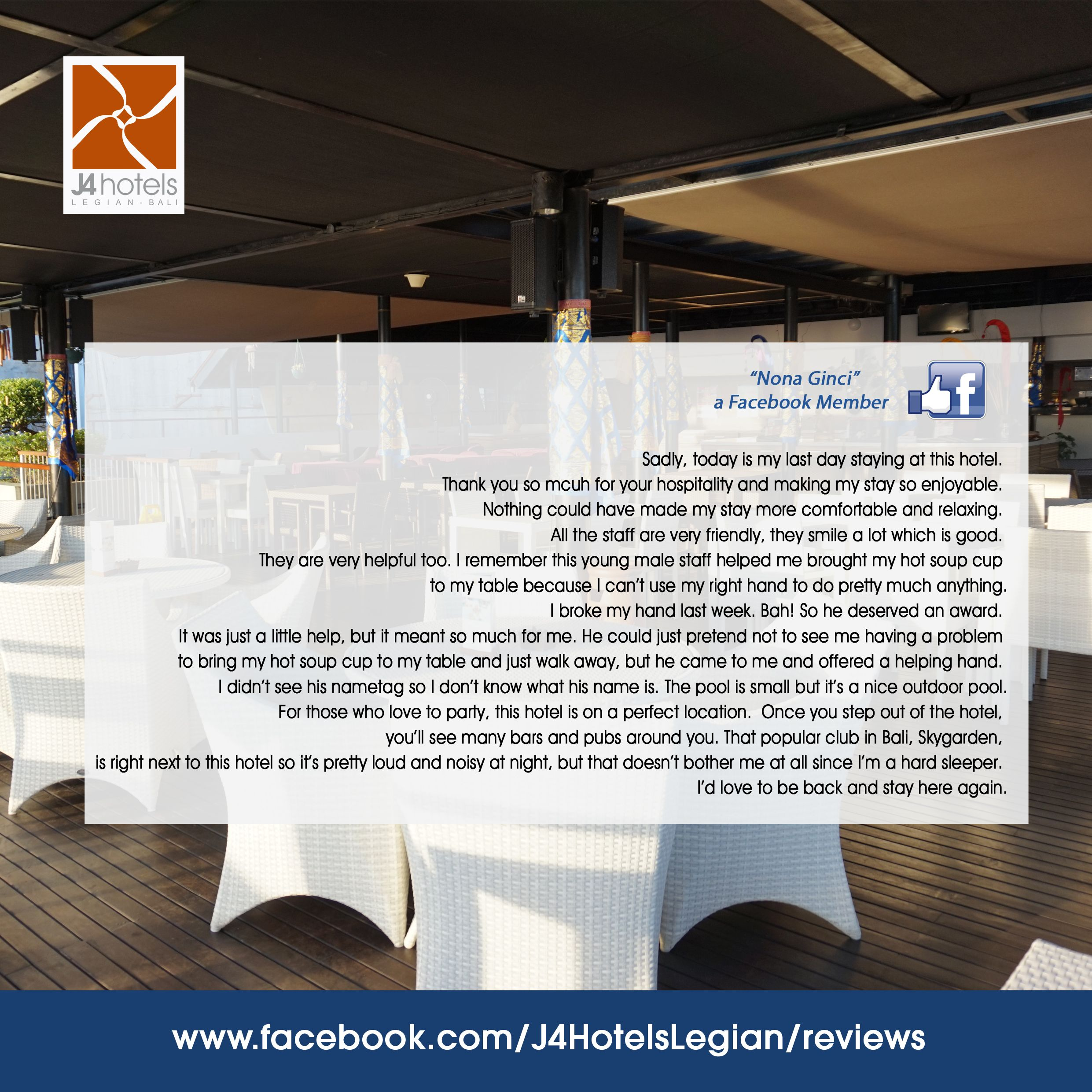 . . . #J4hotelslegian #J4hotels #LifestyleHotel #Lifestyle #HotelBali #Holiday #InstaTravel  #Vacation #LegianBali #Wanderlust #Destination #LegianStreet #RoofTopPool #RoofTopSwimmingPool #Bali #Indonesia #HappyHour #Traveler #Backpacker #HappyLife #J4Offer #Funtastic #Promo #Pizza #Beer #Review #lovelyGuest