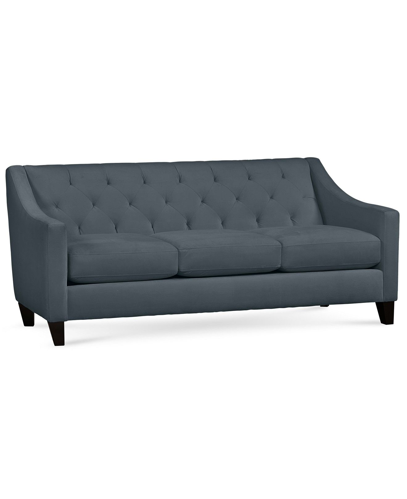 Chloe Velvet Tufted Sofa Custom Colors Couches Amp Sofas