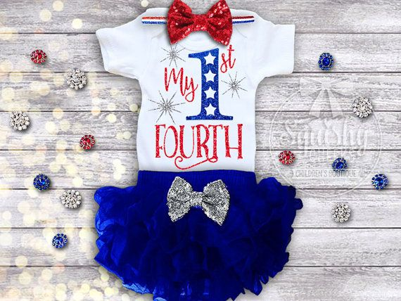 79a2dc782 1st 4th of July Outfit July 4th Baby Girl by BabySquishyCheeks Perfect for  4th of july Photos!