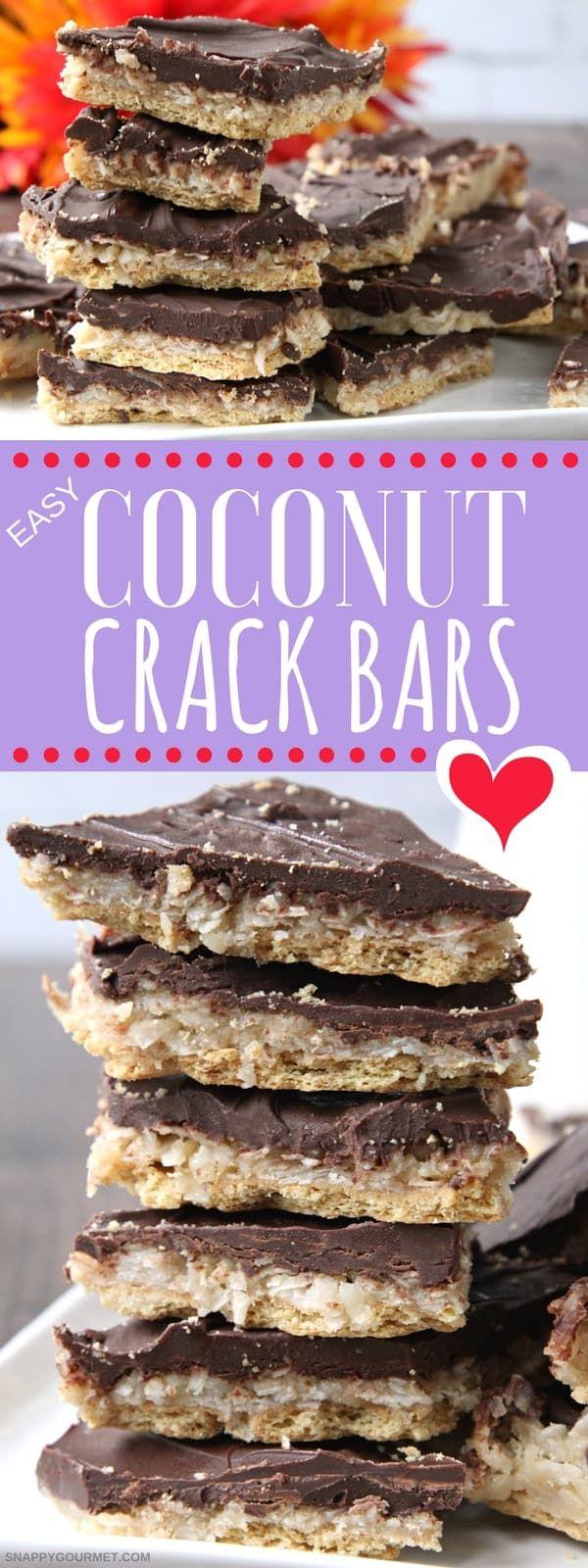 Photo of Easy Coconut Crack Bars