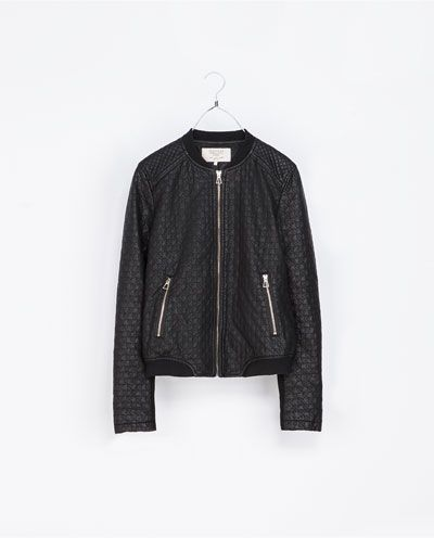 Image 5 of FAUX LEATHER BOMBER JACKET from Zara