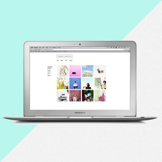 kimberlygenevieve.com by frshstudio.com #webdesign