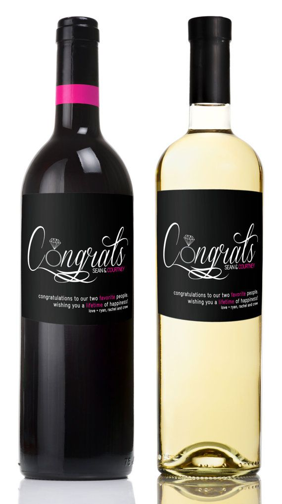 Congratulations Engagement Wine Labels Engagement Gifts For Couple