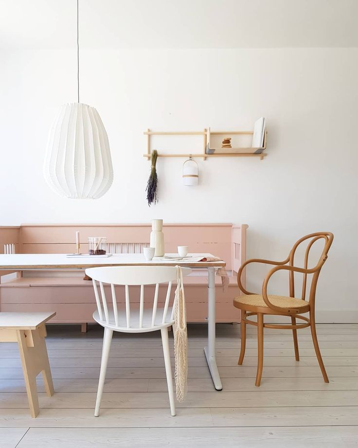 Mix Match Kitchen Chairs: Minimal Dining Room With Mix And Match Chairs