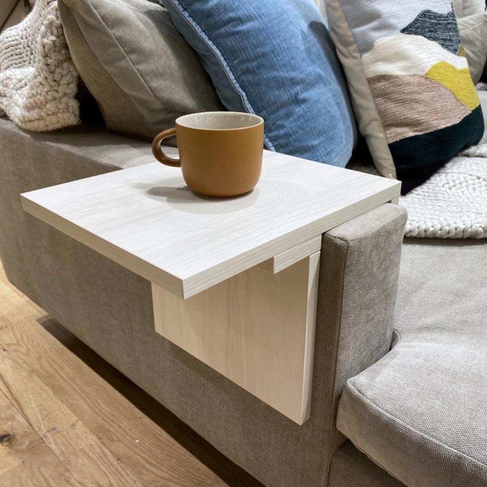 Sofa Ledge White In 2020 Stylish Side Table Side Table Wood Custom Furniture