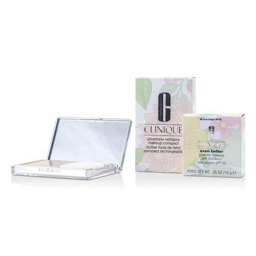 Clinique Even Better Powder Makeup Spf25 (case + Refill) - # 66 True Beige (m-n) --10g-0.35oz By Clinique