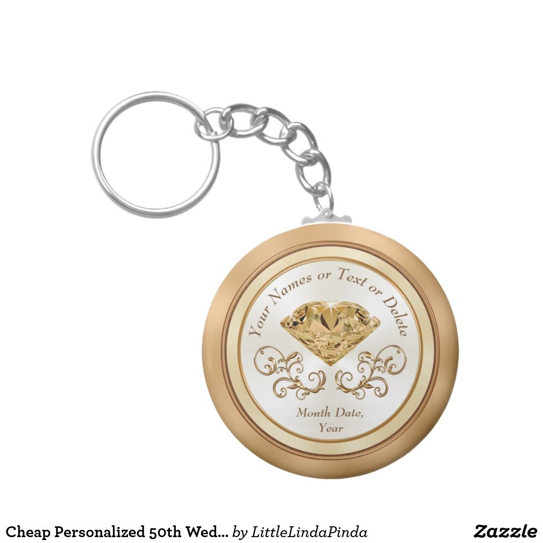 Cheap Personalized 50th Wedding Anniversary Favors Keychain ...