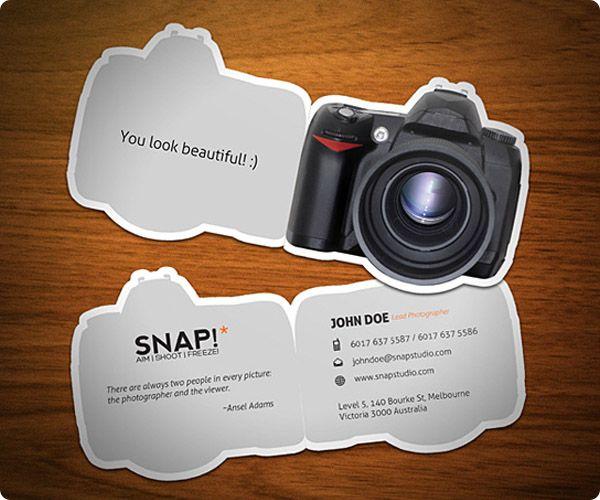 4637a78dbaf5d Tarjeta de Presentación para fotógrafo frente y dorso